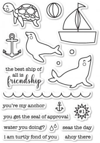 "Memory Box Stempelset ""Seals of Approval"" Clear Stamp"