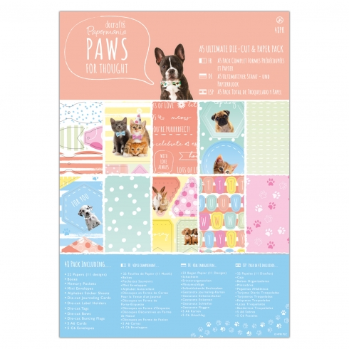 Ultimativer Stanz- & Papierblock A5 - 48 stk. 160g/m² - Paws for Thought