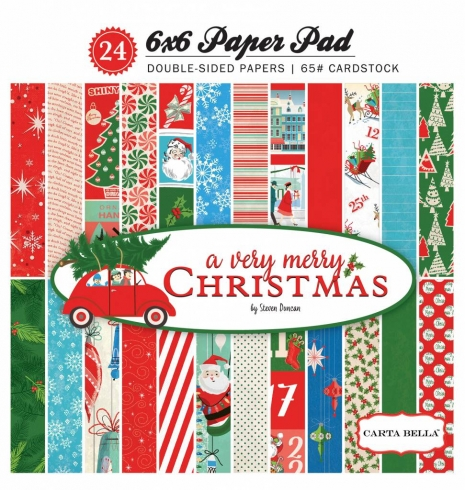 "Carta Bella ""A Very Merry Christmas"" 6x6"" Paper Pad"