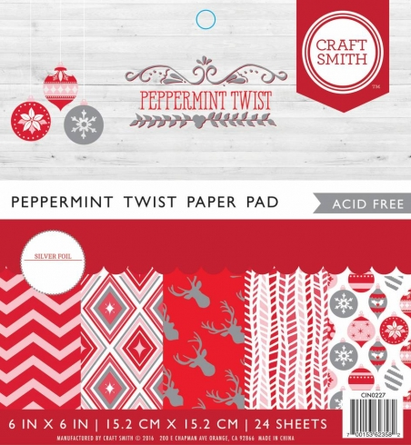 "Craft Smith ""Peppermint Twist"" 6x6"" Paper Pad"