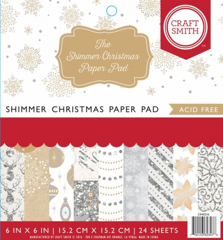 "Craft Smith ""Shimmer Christmas"" 6x6"" Paper Pad"