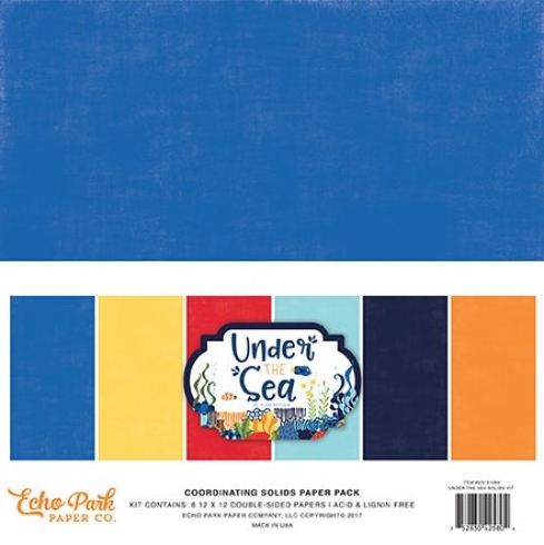"Echo Park ""Under The Sea"" 12x12"" Paper Pack - Cardstock"