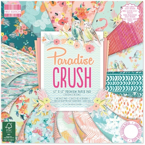 "First Edition Paper Pad ""Paradise Crush"" 12""x12"""