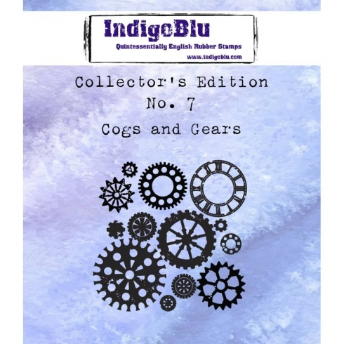 "IndigoBlu ""Cogs And Gears"" A7 Rubber Stamp"