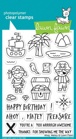 "Lawn Fawn Stempelset ""Ahoy, Matey"" Clear Stamp"