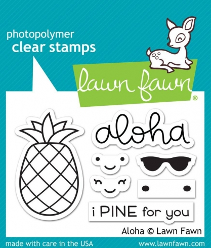 "Lawn Fawn Stempelset ""Aloha"" Clear Stamp"