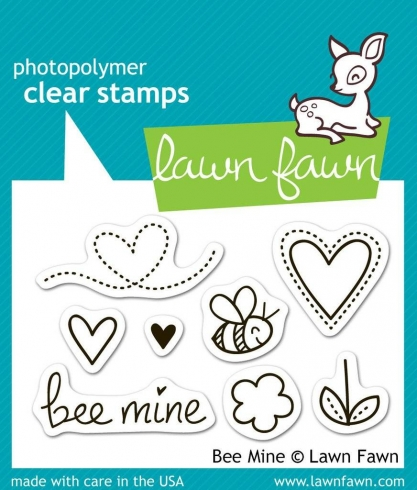 "Lawn Fawn Stempelset ""Bee Mine"" Clear Stamp"