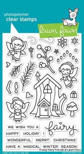 "Lawn Fawn Stempelset ""Frosty Fairy Friends"" Clear Stamp"
