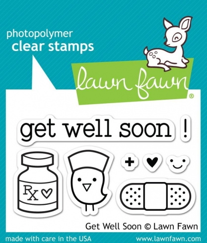 "Lawn Fawn Stempelset ""Get Well Soon"" Clear Stamp"