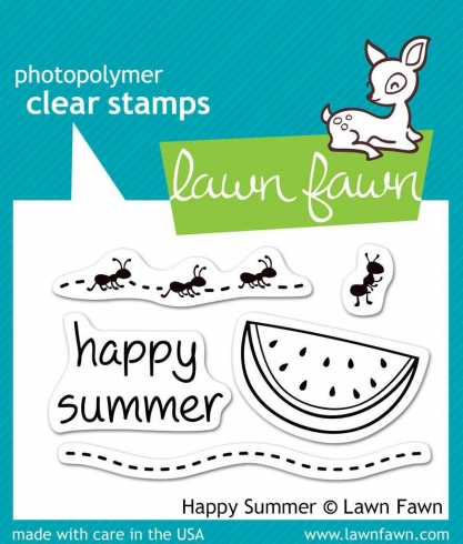 "Lawn Fawn Stempelset ""Happy Summer"" Clear Stamp"