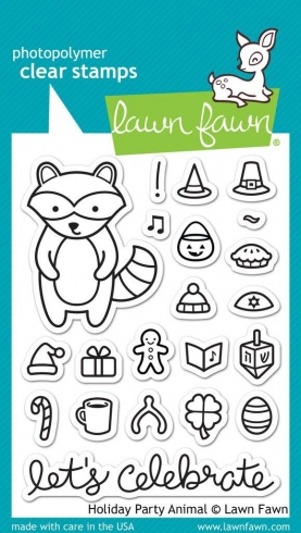 "Lawn Fawn Stempelset "" Holiday Party Animal"" Clear Stamp"