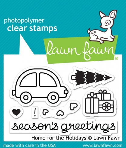 "Lawn Fawn Stempelset ""Home For The Holidays"" Clear Stamp"