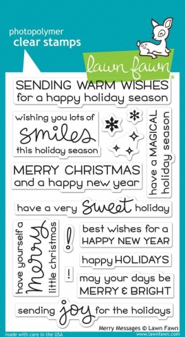 "Lawn Fawn Stempelset ""Merry Messages"" Clear Stamp"