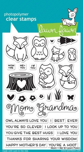 "Lawn Fawn Stempelset ""Mom + Me"" Clear Stamp"