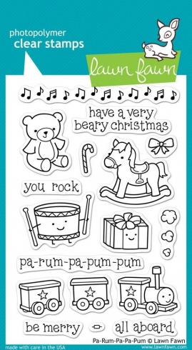 "Lawn Fawn Stempelset ""Pa-Rum-Pa-Pum-Pum"" Clear Stamp"