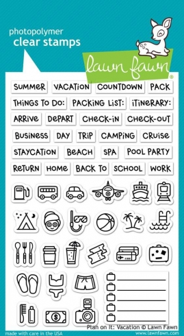 "Lawn Fawn Stempelset ""Plan On It: Vacation - Ferien"" Clear Stamp"