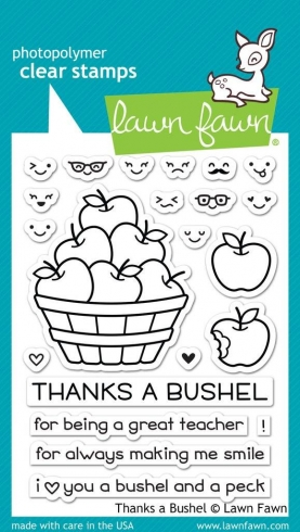 "Lawn Fawn Stempelset "" Thanks A Bushel"" Clear Stamp"