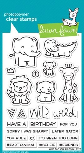 "Lawn Fawn Stempelset ""Wild For You"" Clear Stamp"
