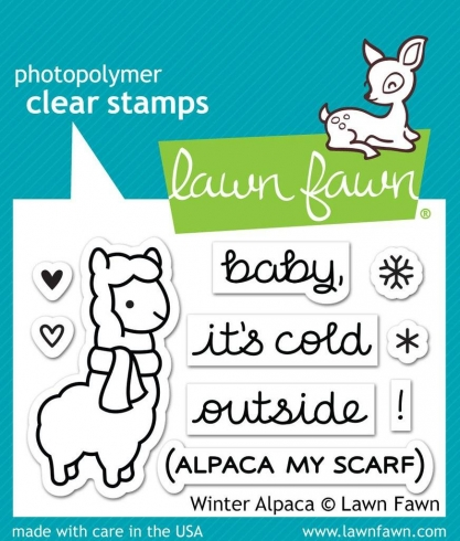 "Lawn Fawn Stempelset ""Winter Alpaca"" Clear Stamp"