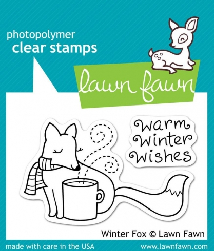 "Lawn Fawn Stempelset ""Winter Fox"" Clear Stamp"