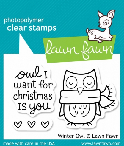 "Lawn Fawn Stempelset ""Winter Owl"" Clear Stamp"
