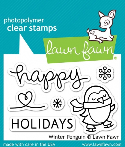 "Lawn Fawn Stempelset ""Winter Penguin"" Clear Stamp"
