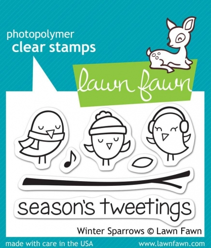 "Lawn Fawn Stempelset ""Winter Sparrows"" Clear Stamp"