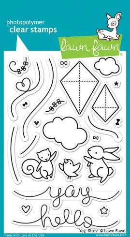 "Lawn Fawn Stempelset ""Yay, Kites!"" Clear Stamp"