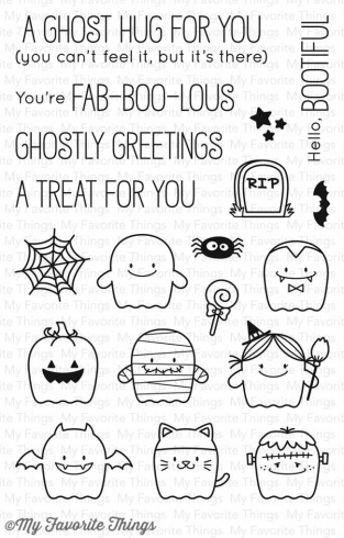 "My Favorite Things Stempelset ""Fab-BOO-lous Friends"" Clear Stamp Set"