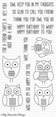 "My Favorite Things Stempelset ""For Owl You Do"" Clear Stamp"