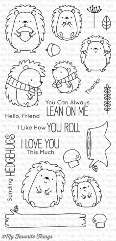 "My Favorite Things - ""Happy Hedgehogs"" Clear Stamp (BB-38)"