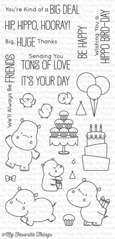 "My Favorite Things Stempelset ""Happy Hippos"" Clear Stamp"