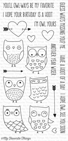 "My Favorite Things - ""I'm Owl Yours"" Clear Stamp (CS-168)"