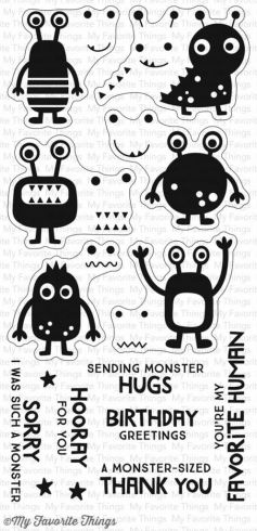 "My Favorite Things Stempelset ""More Monsters"" Clear Stamp Set"