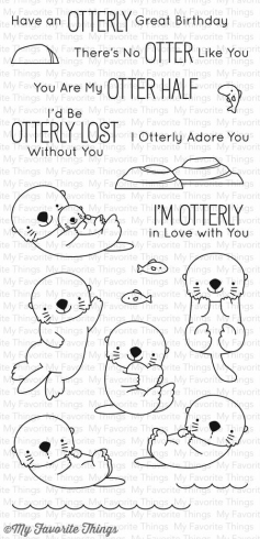 "My Favorite Things - ""Otterly Love You"" Clear Stamp (BB-42)"