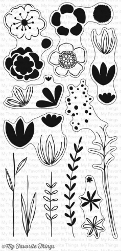 "My Favorite Things - ""Sketched Blooms 2"" Clear Stamp (CS-166)"