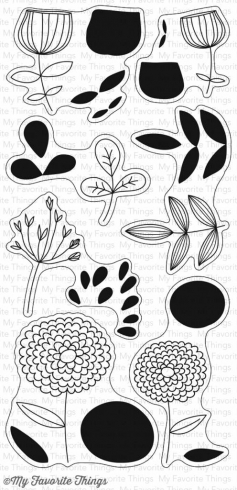 "My Favorite Things Stempelset ""Sketchy Flowers"" Clear Stamp"