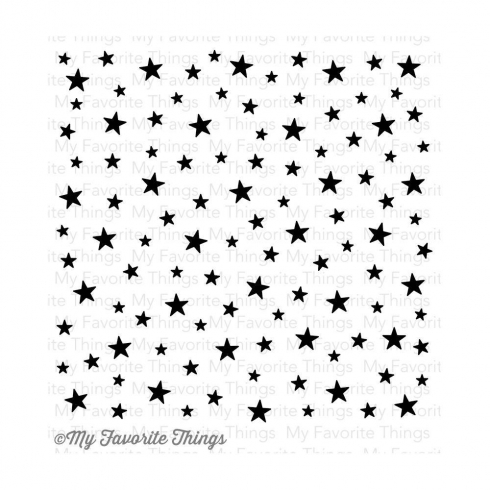 "My Favorite Things ""Star Celebration"" 6x6"" Background Cling Stamp"