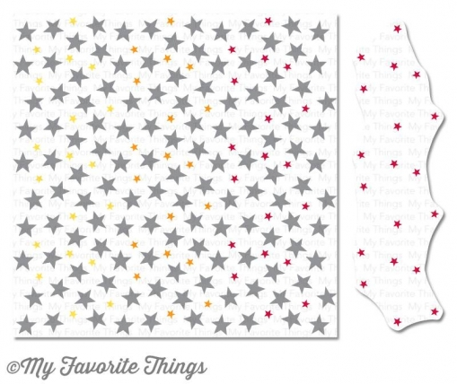 "My Favorite Things ""Starry Night Builder"" 6x6"" Background Cling Stamp"