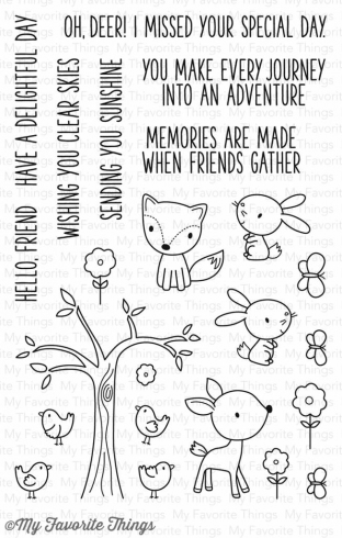 "My Favorite Things Stempelset ""Sweet Forest Friends"" Clear Stamp"