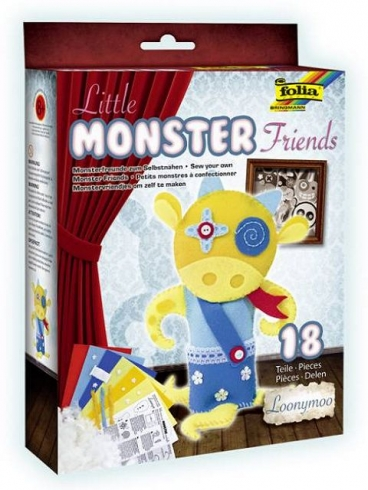 Filzbastelset Little Monster Friends, Loonymoo - 18 teilig