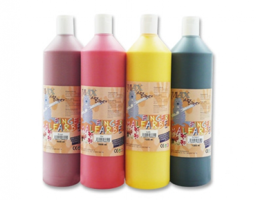 Fingerfarbe-Set 1000 ml -Max der Biber-