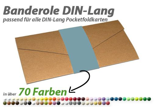 blanko Banderole (Belly-Band) für DIN-Lang Pocketfold