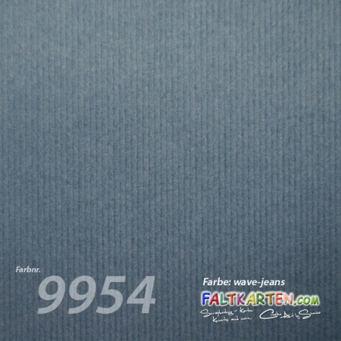 "Cardstock 12""x12"" 200g/m² (30,5 x 30,5cm) in wave-jeans"